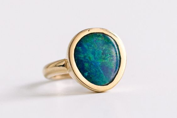 Opal Amulet Ring by Kathryn Bentley