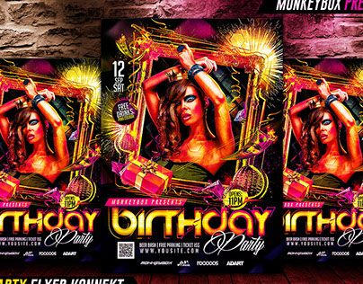 """Check out new work on my @Behance portfolio: """"Birthday Party Flyer Konnekt"""" http://on.be.net/1L98C1N"""