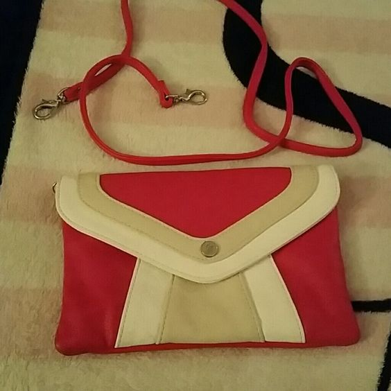 Clutch Sand,pink, white with strap clutch Grace Adele Bags Clutches & Wristlets