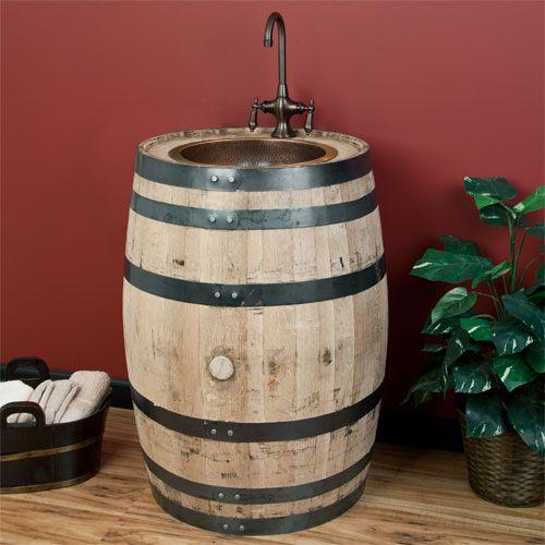 Pinterest the world s catalog of ideas for Whiskey barrel bathtub