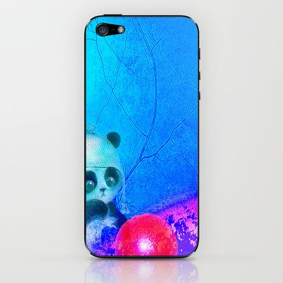 Baby panda plays with its balloon iPhone & iPod Skin by ganech - $15.00