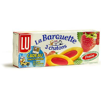 LU La Barquette 3 Chatons - French Cookies - Strawberry - 7oz.: $4.84