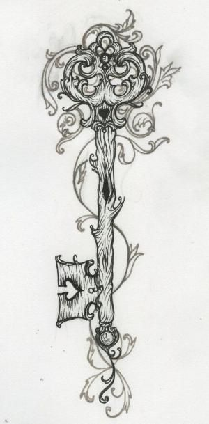 Lock and Key Tattoo Designs | .Love.This! | Tattoo Ideas Central to finish the heart lock and key ... by julianne