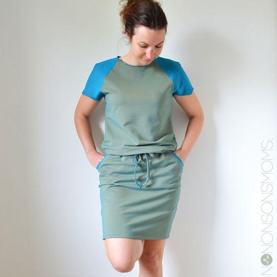 (Stretch)katoenen jurken maakte ik al verschillende keren. Helaas blijven de Junes en Belladones veel te vaak in de kast hangen wegens te deftig/strak. Het liefst van al draag ik comfortabele jur…