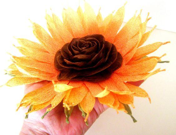 Wedding Sunflower Decor Nursery baby shower Sunflower Table Rustic Flowers Rustic Flower Favor Centerpiece Wedding paper Table Flower by flower4you on Etsy https://www.etsy.com/listing/253560339/wedding-sunflower-decor-nursery-baby