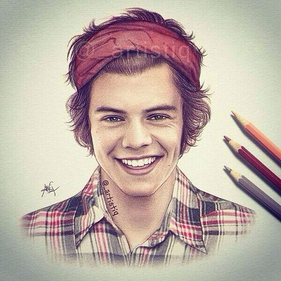 Harry styles, Drawings and Amazing drawings on Pinterest