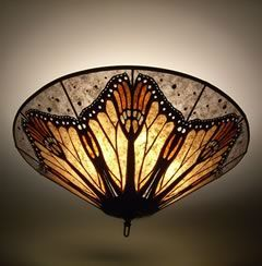 monarch butterfly wings mica ceiling lamp