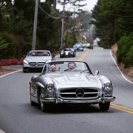 Sir Stirling Moss leading the pack at the 2016 Pebble Beach Tour d'Elegance in…