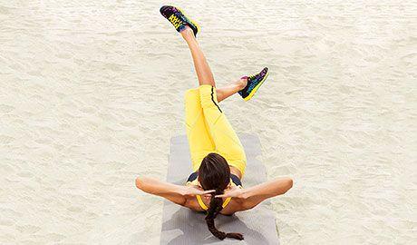 Scissors Crunch - Fitnessmagazine.com