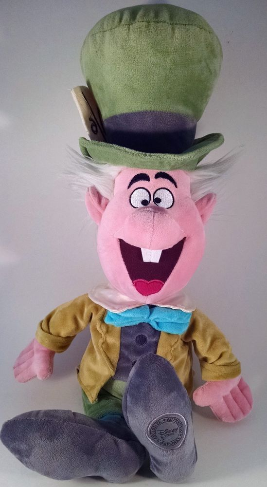 "Disney Store Mad Hatter Plush 20"" Soft Toy Stuffed Alice In Wonderland HTF #Disney"