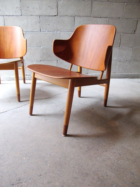 Elegant Lounge Chairs By Ib Koford Larson