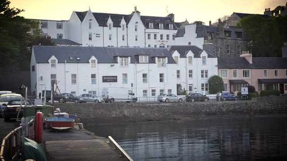 The Rosedale Hotel overlooks the harbour, Portree, Isle of Skye