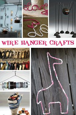 Creative uses for wire clothing hangers wire hanger for Creative clothes hangers