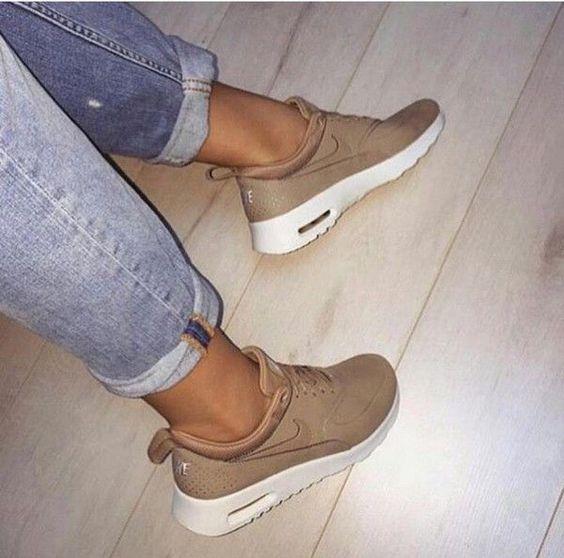 shoes nike brown trainers beige sneakers