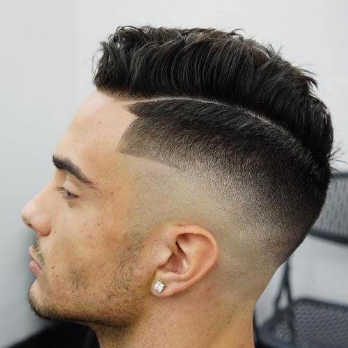 Verblassen Frisur Mit Linie Neue Frisuren Haarschnitt Frisur Ideen Manner Herren Haarschnitt