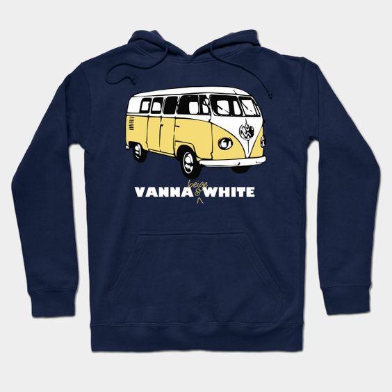 Vanna Beige & White Hoodie
