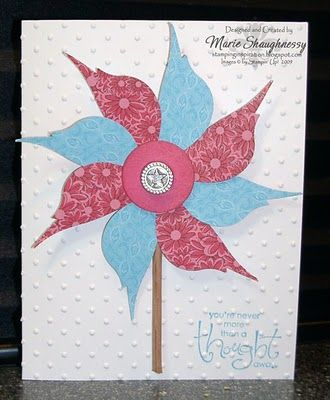 Stampin' Up!  Bird Punch  Marie Shaughnessy  Pinwheel