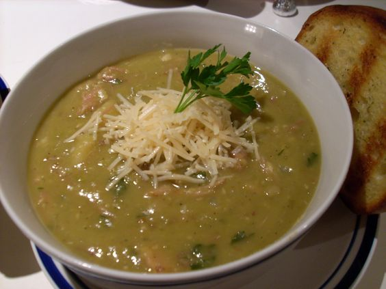 Split Pea Soup made from scratch with leftover Christmas ham...it was awesome!!