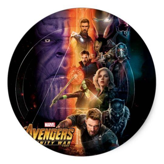 Avengers Infinity War Ray Blast Movie Poster Square Sticker Avengers Stickers Avengers Infinity War