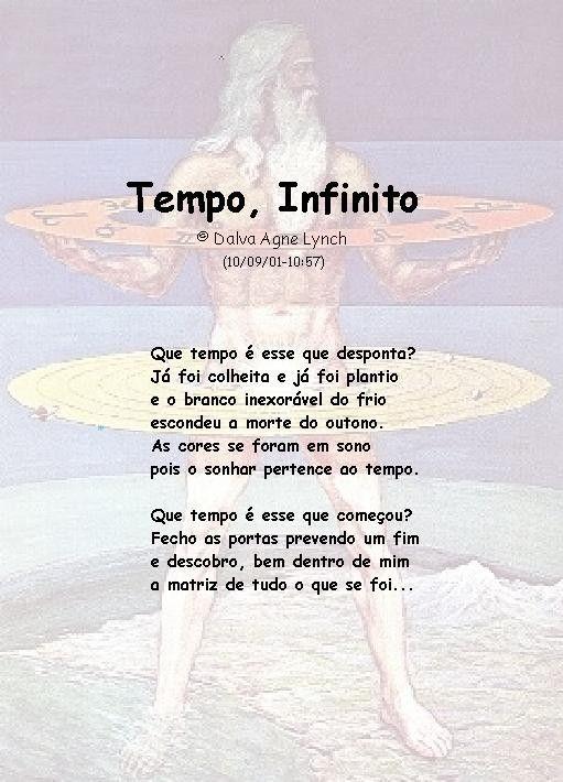 """da coleção """"Tempo"""" - Tempo, Infinito"""