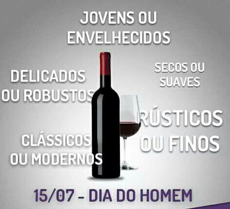 """#Vinho ♡ & #DiaDoHomem☆ #Dia15Jul #DiaDoHomem ☆ ★ """" Cada Um com seu Cada Qual """""""