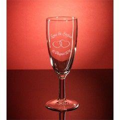Sektglas Reims gravieren Hochzeit
