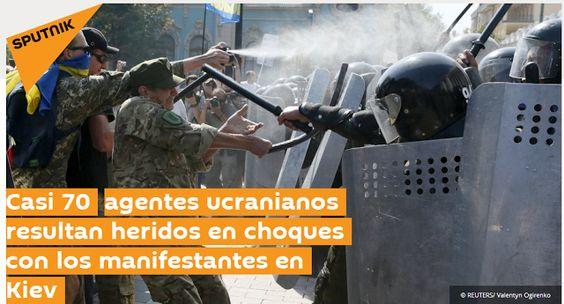 Poroshenko califica de antiucranianos disturbios frente a Rada - Yatseniuk exige duro castigo para el nuevo MAIDAN
