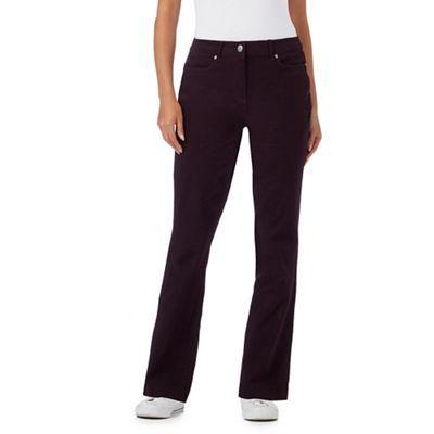 Maine New England Dark purple five pocket stretch trousers | Debenhams £28, up to sz 26
