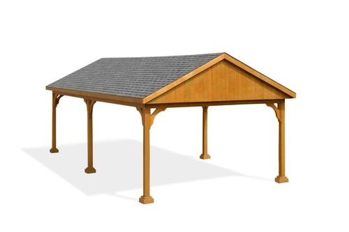 Pressure Treated Pine Gabled Roof Pavilion Pergola Attached To