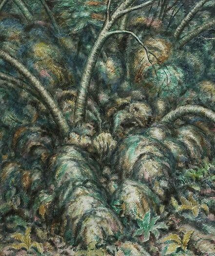 Edward Middleton Manigault (Am., 1887-1922),Tree Rhythms II, 1918. Oil on canvas, 30⅛ x 25 in.