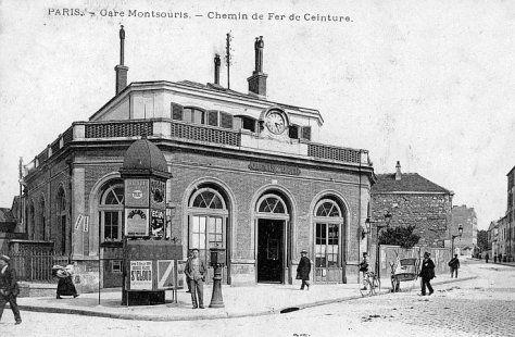 Les gares de la Petite Ceinture dans le 14e arrondissement - La gare du Parc Montsouris (détruite)