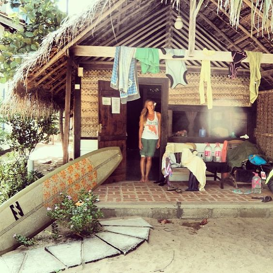 Surf shack! Photo of Billabong team rider, Lauren Hill: