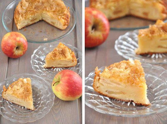 Apfel Joghurt Kuchen mit Zuckerkruste