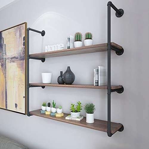 Baiyiqw Wall Shelf White Wall Shelf Frame Wall Shelves Multi Layer Storage Wall On The Partition Wall Wrought Iron In 2020 White Wall Shelves Bookshelves Diy Shelves