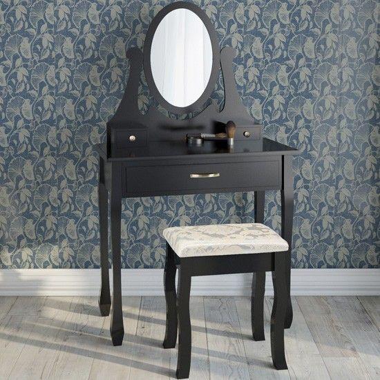 Toilettafel Met Spiegel Leenbakker.Kaptafel Kaptafels Kaptafel Set Met Kruk Met Spiegel