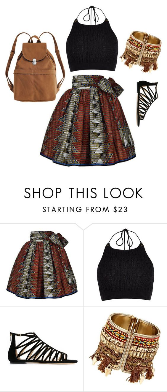 """""""Étnico"""" by lilicabsilveira-1 on Polyvore featuring River Island, Jimmy Choo and BAGGU"""