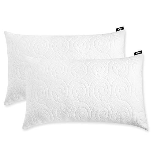 Bamboo Pillow Cover Zippered Protector Breathable Cool Washable 4 Pack Luxury