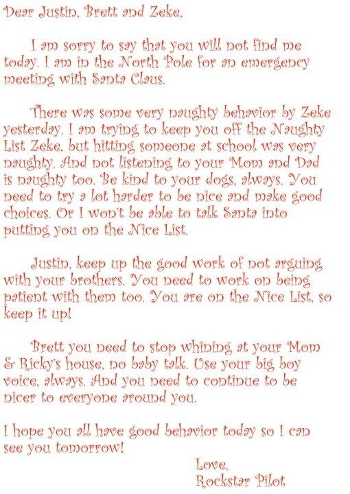 Letter from Elf on the Shelf regarding Naughty behavior There was - holiday letter