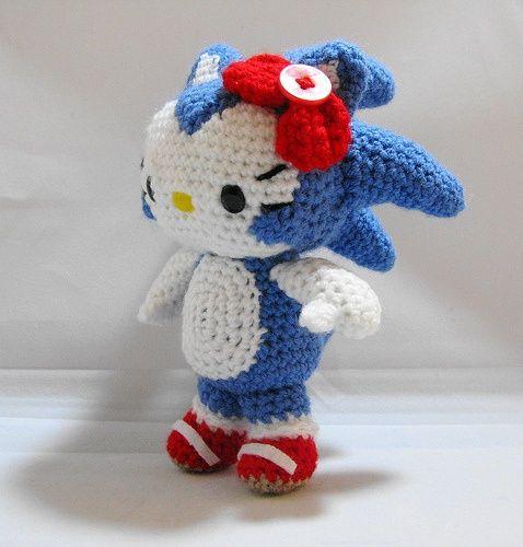 Hello Kitty: in Sonic the Hedgehog. Amigurumis cuties ...