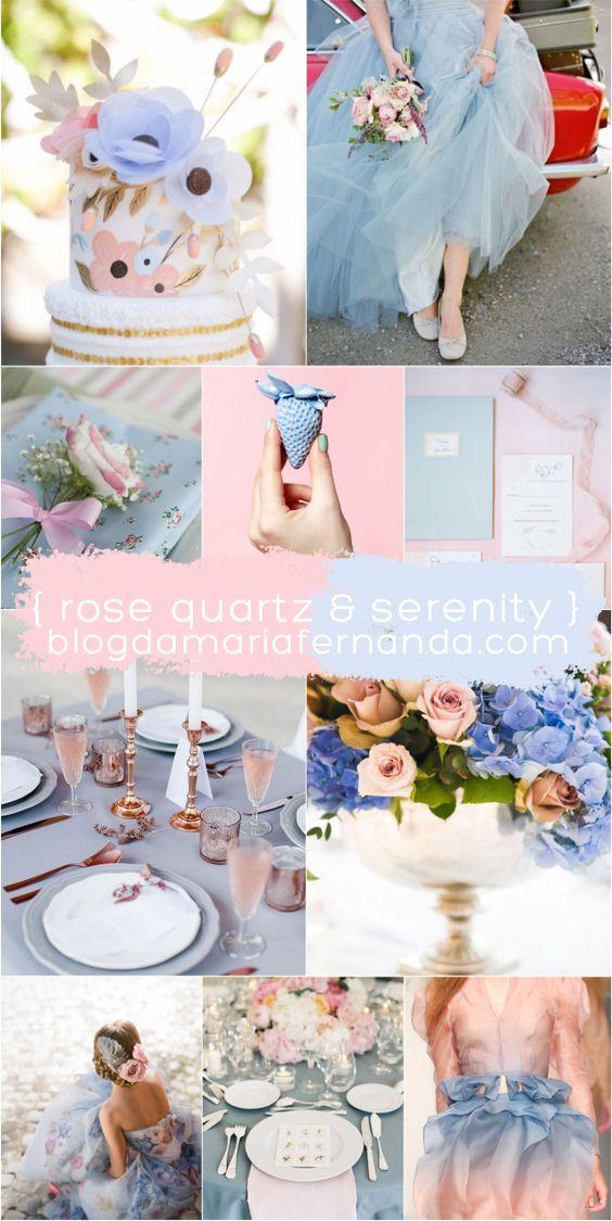 Decoração de Casamento : Paleta de Cores Pantone 2016 | http://blogdamariafernanda.com/decoracao-de-casamento-paleta-de-cores-pantone-2016: