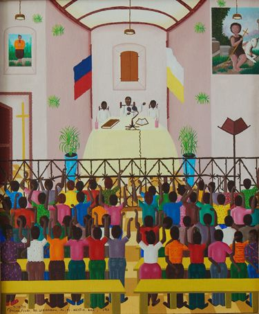 Voltaire Hector, 2007  Aristide preaching liberation before 1986.