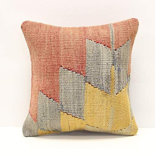throw kilim pillow cover 12x12 inch