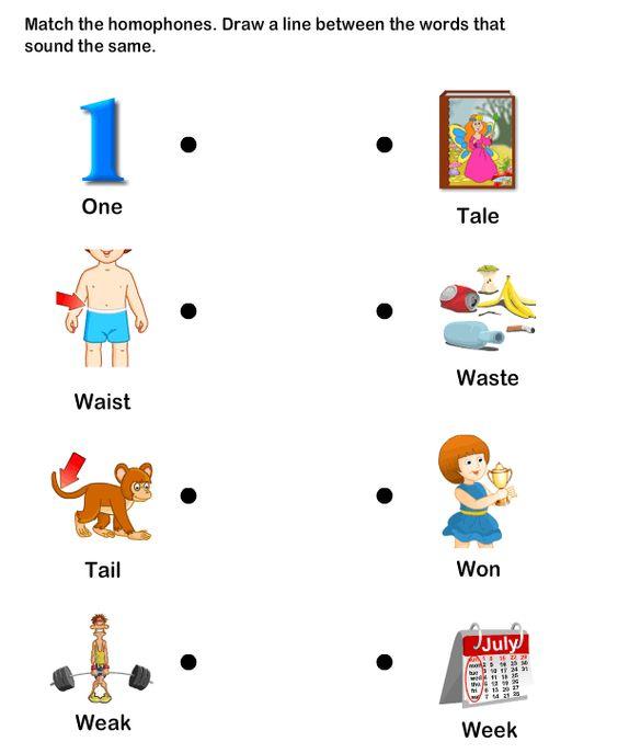 Homophone Word Worksheet7 eslefl Worksheets kindergarten – Kindergarten Esl Worksheets