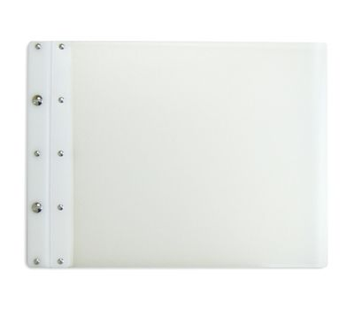 Ice Nine Light Screwpost Portfolio Cover by Case Envy » 11x17 Landscape » Clear Front and Back with White Hinge