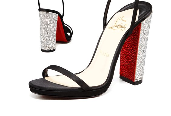 New take on the signature red sole!! Louboutin's with stingray!?