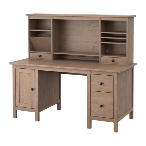 HEMNES Desk with add on unit, white stain Cable, Extension cords and Middle