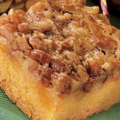 ... pecans.. Toffee Squares With Toasted Pecans Recipe from Grandmothers