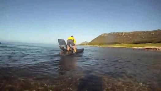 Olivier Feuillette Turns Kayak Into Self Propelled Homebuilt Submarine