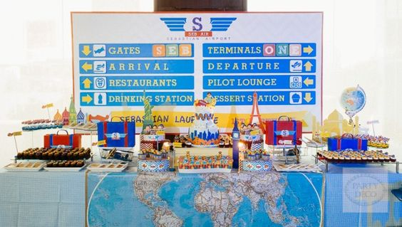 Sebastian's Airplane Themed Party – Sweet treats tablescape