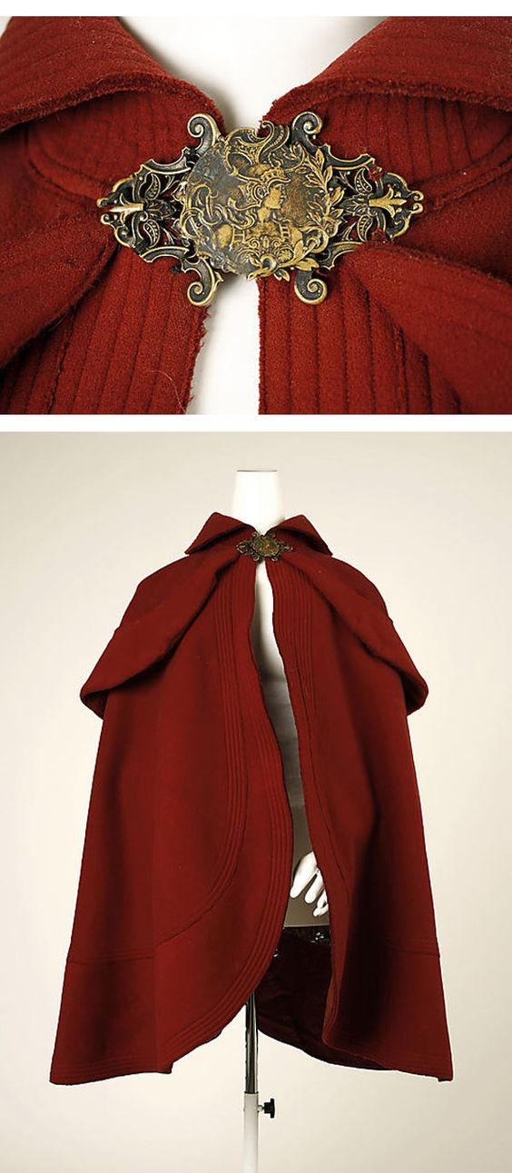 ~Skating cape  (c.1898–99 / French)~  I wonder how hard it would be to make one...? Looks simple enough